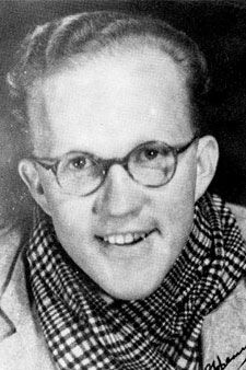 """DJ Opperman (1914–1985). """"Miskien het dit tyd geword vir al ons digters om uit ons ivoortorings te kom, en van die pieke af te kom en weer met ons volk te kommunikeer."""""""