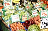 Fruit and vegetable stall at one of the Kirklees markets