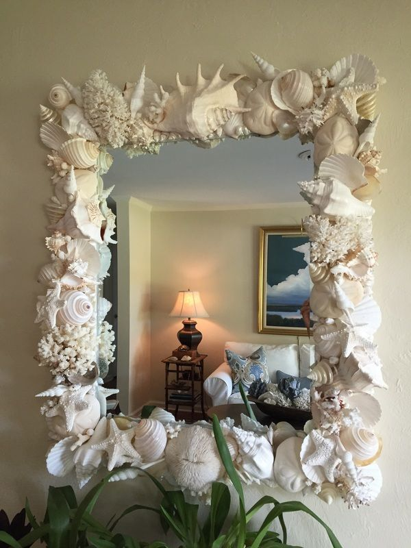 shell mirrors seashore chic home decor pinterest shells