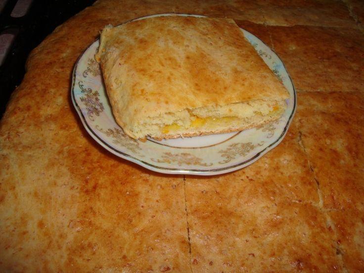 Пирог творожный с лимоном и апельсином