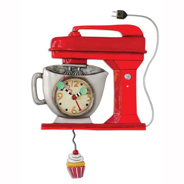 Vintage Mixer Red Clock | Allen Designs Studio