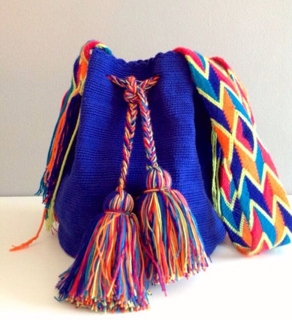 Wayuu Blue Mochila Bag