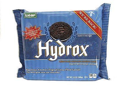 Leaf Hydrox Cookies, Creme Filled Chocolate Sandwich Cookie, 13 OZ, New