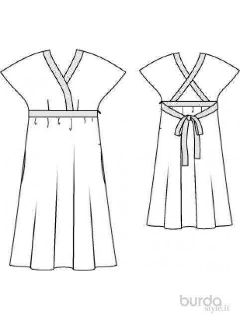 Abito kimono incrociato Il mondo dei cartamodelli e del cucito