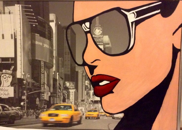 """By Lucie Nguyen, My painting, """"NYC"""", pop art, acrylic on canvas, 140x100cm"""