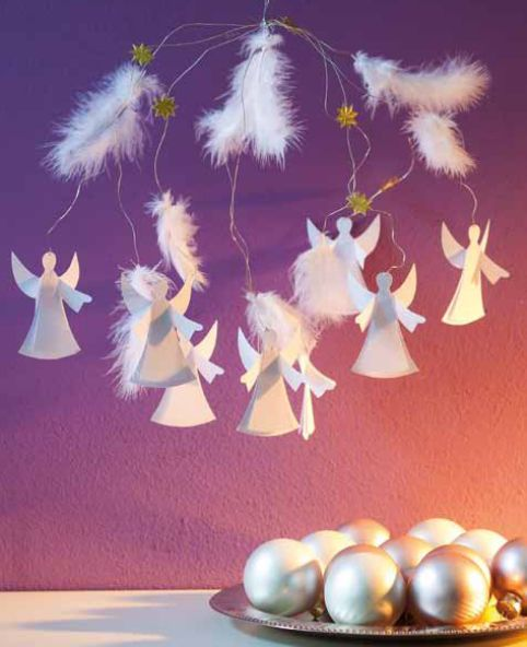 Himmlisch leichte Engel aus Papier, aus unserem Buch 'Zauberhafte Papierengel': http://www.topp-kreativ.de/zauberhafte-papierengel-4057.html