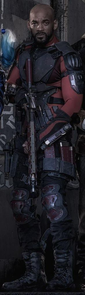 And again, Will Smith As Deadshot (without mask).