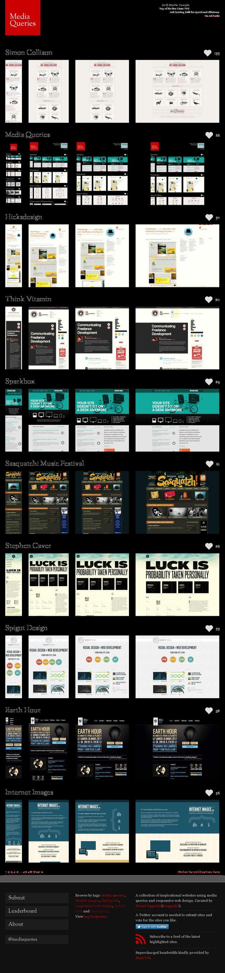 Excellent examples of responsive design via http://mediaqueri.es/popular #ux #ui #responsive #design