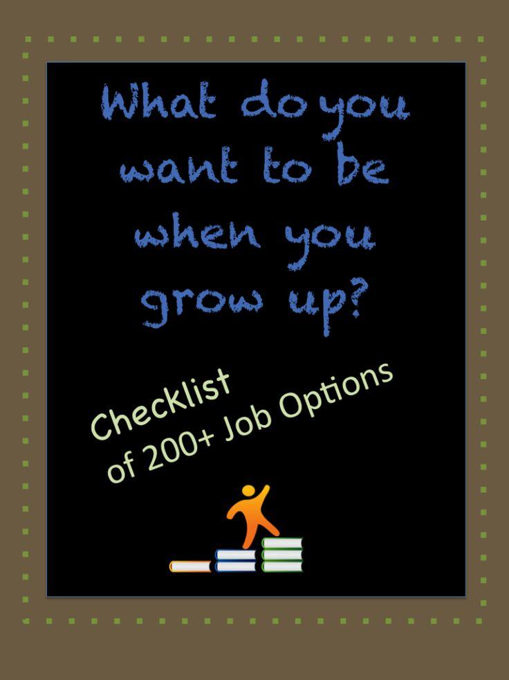 Career Choices Lesson