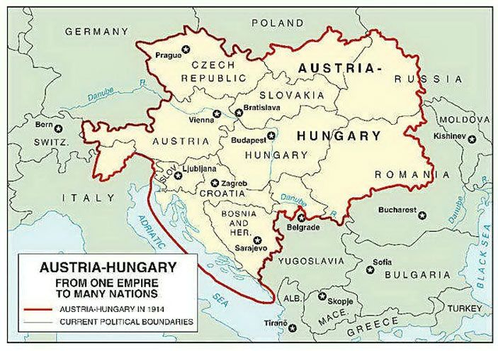 The Austro-Hungarian Empire (or Austria-Hungary, 1867-1918)