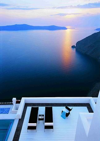This is a view to remember- at Homeric Poems in Santorini  My Vacation Lady