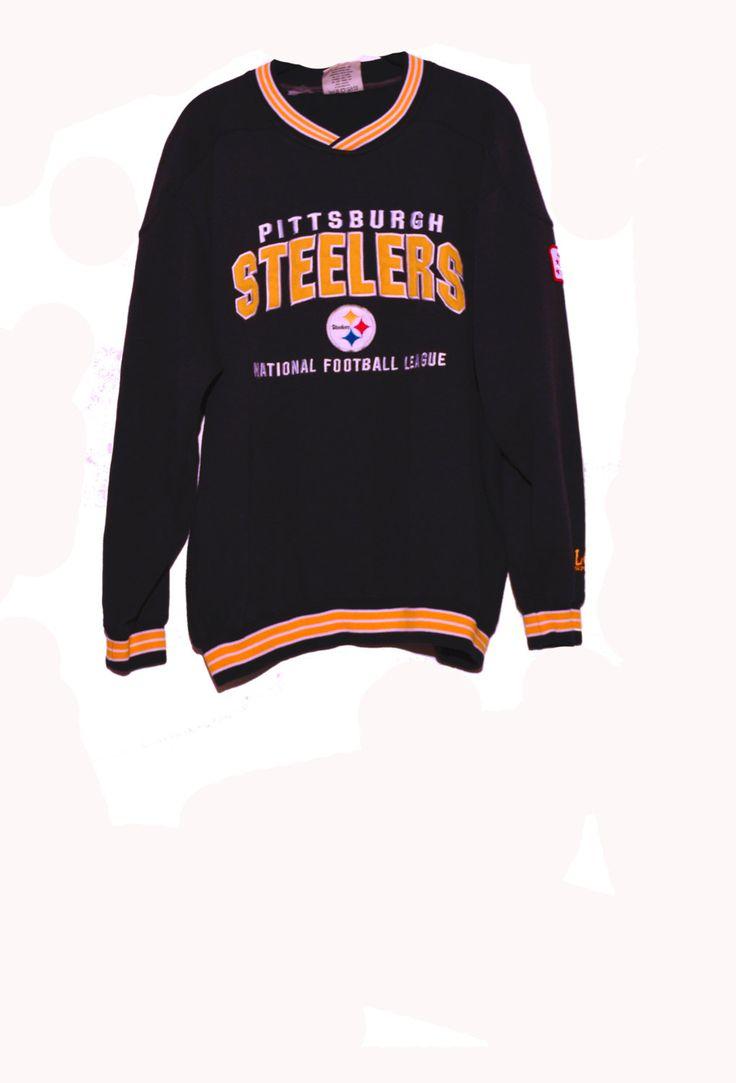 Steelers NFL,  Retro crew neck, football sweatshirt, pittsburgh steelers, Lee Sport, super bowl 2017, football jersey, nfl team, sportswear by SerialMateriaL on Etsy
