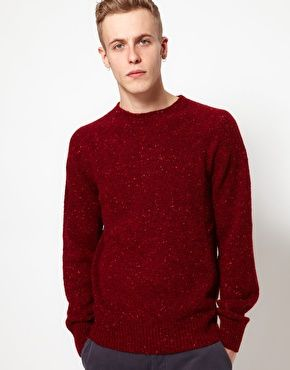 YMC Jumper In Scottish Donegal - Exclusive
