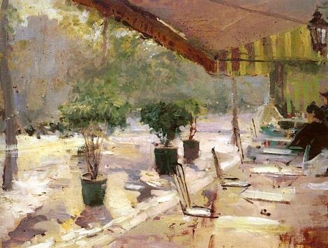 Konstantin Korovin, Paris cafe on ArtStack #konstantin-korovin #art