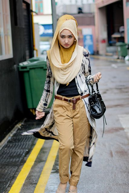 Singapore | Dian Pelangi the overcoat, over the outfit. love.