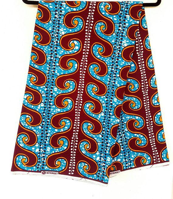 Ankara stof / Afrikaanse print / was afdrukken / Afrikaanse doek / lichte stof / helder materiaal