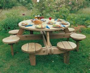 Best 25 outdoor picnic tables ideas on pinterest garden for Wheelchair accessible picnic table plans