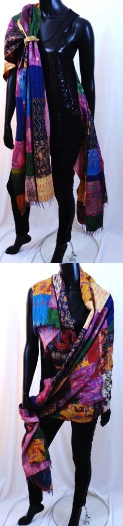Reversible Silk Shawl https://artikrti.com/collections/womens-wear/products/designer-party-silk-shawl-ethnic-indian-silk-stole-or-wrap-patchwork-infinity-scarf-classy-wedding-shawl-ethnic-gift-from-artikrti