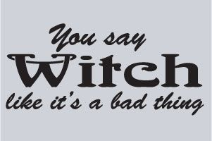 Alicia's been called a witch all her life only to find out she's actually a psychic. This is  hilarious to her.