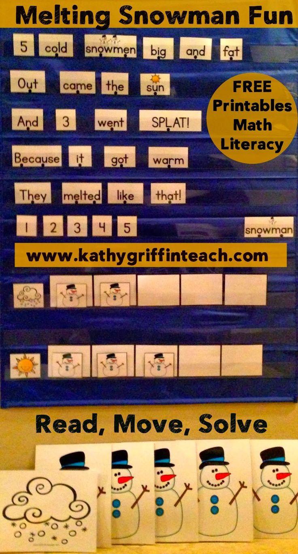 Kathy Griffin's Teaching Strategies: 10 Cold Snowmen Math, Literacy, & YouTube Video Fun