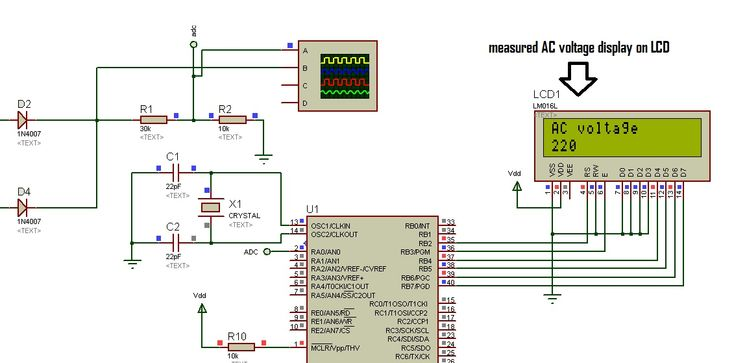 How to measure ac voltage using pic microcontroller