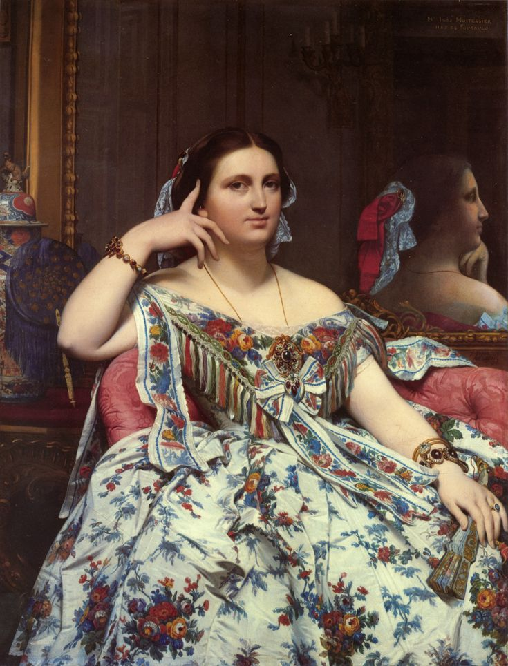Jean Auguste Dominique Ingres - Portrait of Madame Moitessier Sitting, 1856, oil on canvas