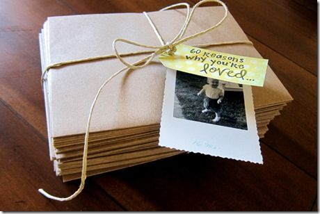 diy: reasons why you're loved birthday present -- so amazing! via @Peanut Butter Fingers