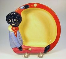 Child's Dish by Clarice Cliff, Golly Wog Pattern