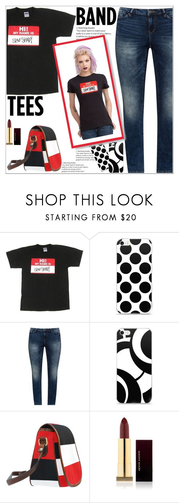 """Let The Real Slim Shady Stand Up"" by atelier-briella ❤ liked on Polyvore featuring JunaRose, Hot Topic, Kevyn Aucoin, cute, chic and bandtees"