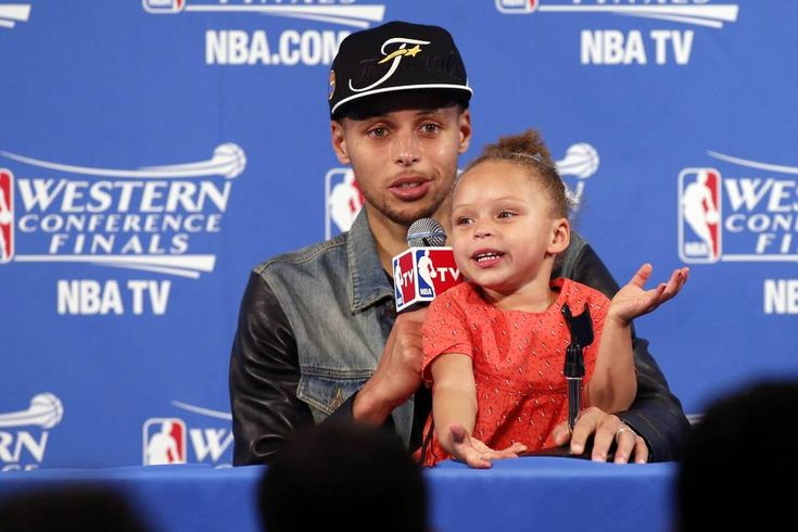 http://heysport.biz/ NBA MVP Stephen Curry and daughter Riley, one of the stars of the postseason.