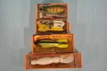 Four Vintage Bomber Lures In Original Boxes