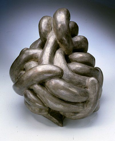 Louise Bourgeois  CLUTCHING, 1962  Bronze, silver nitrate patina  12 x 13 x 12 inches
