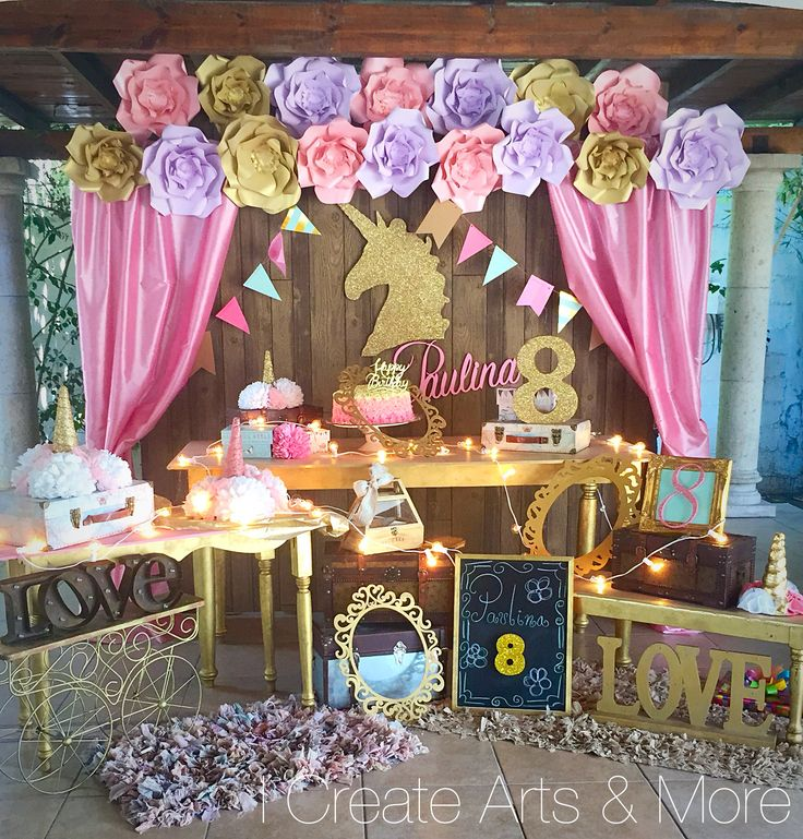 25 best ideas about unicorn baby shower on pinterest for Baby birthday decoration items