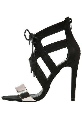 Sandały z cholewką - gunmetal/black