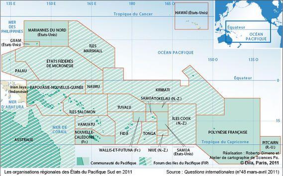 Les organisations régionales des États du Pacifique Sud en 2011