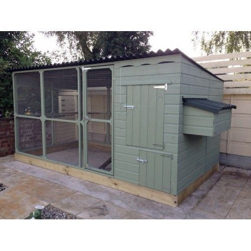 Large Chicken House with large walk in Chicken Run is suitable for Chicken keepers who are unable to let their Chickens free range due to predators, big enough for Chickens to stretch their wings, easy clean fox proof Chicken Coop.Fabulous woodenart quality and innovationA very e
