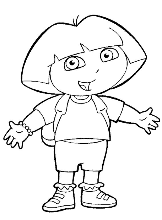 dora-the-explorer-boots-coloring-pages-for-kids-halloween ... | 770x567