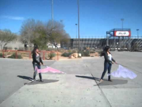 swing flag. awesome toss at the end
