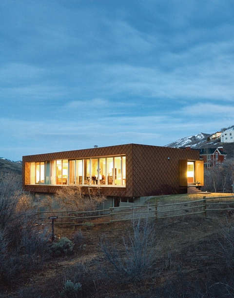 Good In The Land Of Large Mountain Lodge Wannabes, Two California Natives Tuck  Utahu0027s First LEED For Homesu2013rated House Onto The Side Of Emigration Canyon. Amazing Ideas