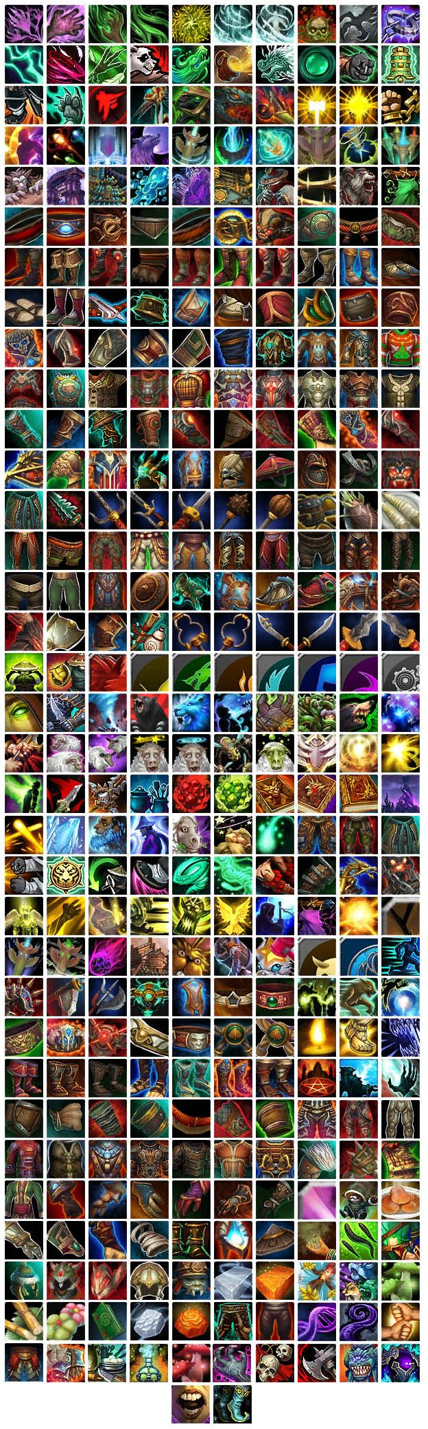 Various WoW:MoP icons 6