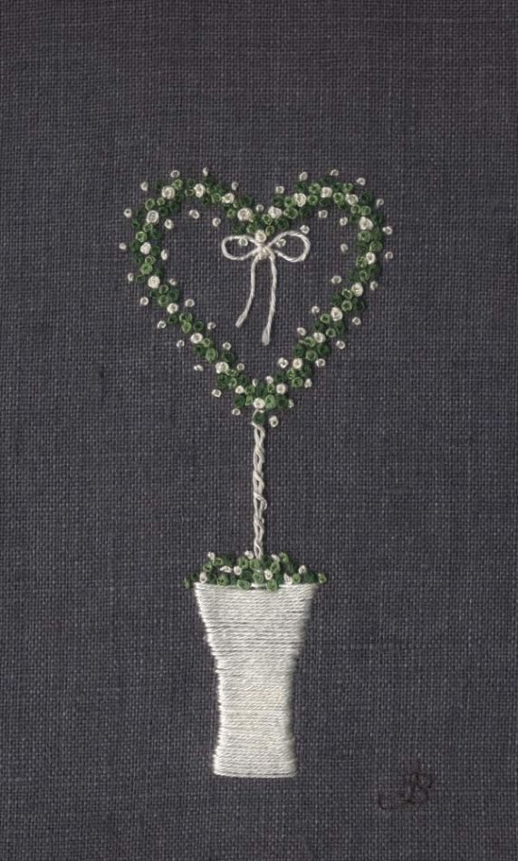 Jo Butcher, Embroidery Artist - Heart Topiary