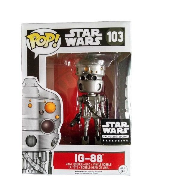 FUNKO POP Star Wars IG-88 Smugglers Bounty EXCLUSIVE #103 NMIB