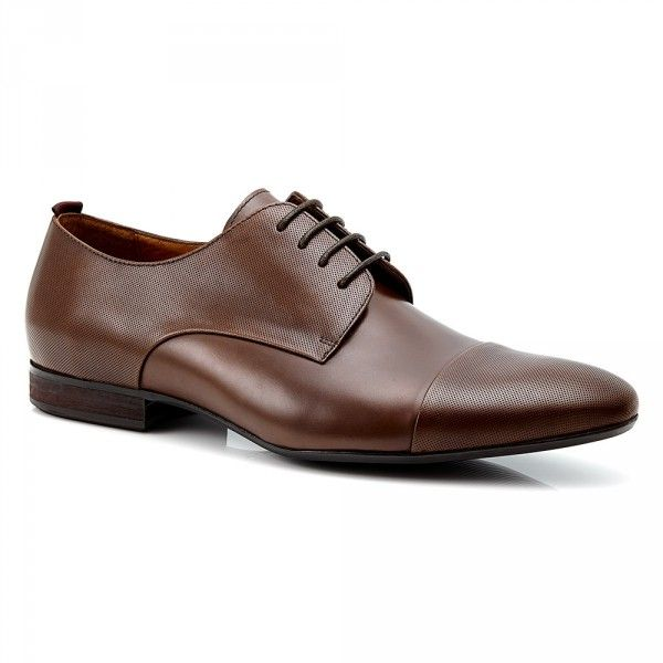 Mens Business Shoes - Aquila Snyder Brown - Perforated Leather Shoe