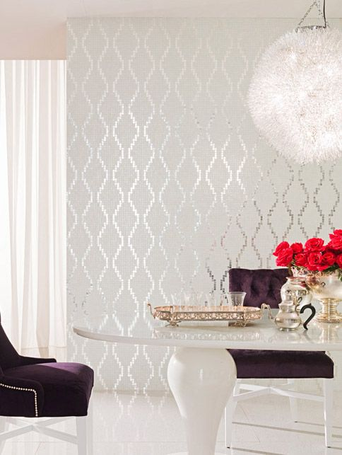 silver modern tile mosaic