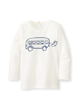51% OFF Il Gufo Kid's Bus T-Shirt (Milk)