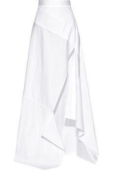 Michael Lo Sordo Split striped cotton-poplin maxi skirt   THE OUTNET
