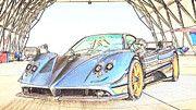 "New artwork for sale! - "" Pagani Zonda Tricolore  by PixBreak Art "" - http://ift.tt/2lrW5yv"