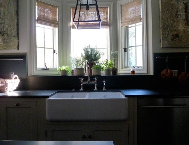 apron sink + bay window in kitchen by alecia stevens