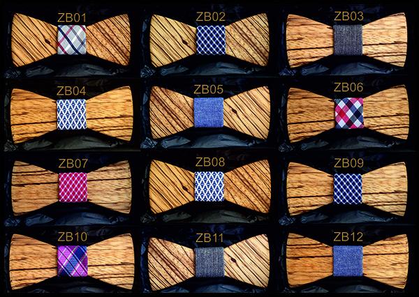 Wooden Bow Tie Zebrano Wood