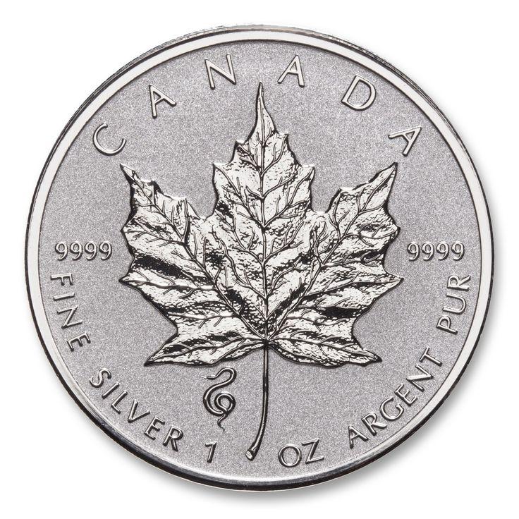 2013 Lunar Year of the Snake 1 oz Privy Silver Maple Leaf